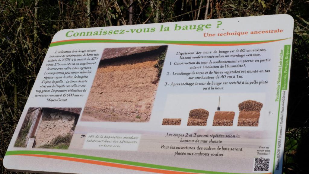 """Circuit Ecobalade Bouffry- panneau pédagogique """"la bauge"""""""